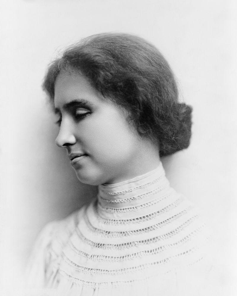 Fotografia di Helen Keller.