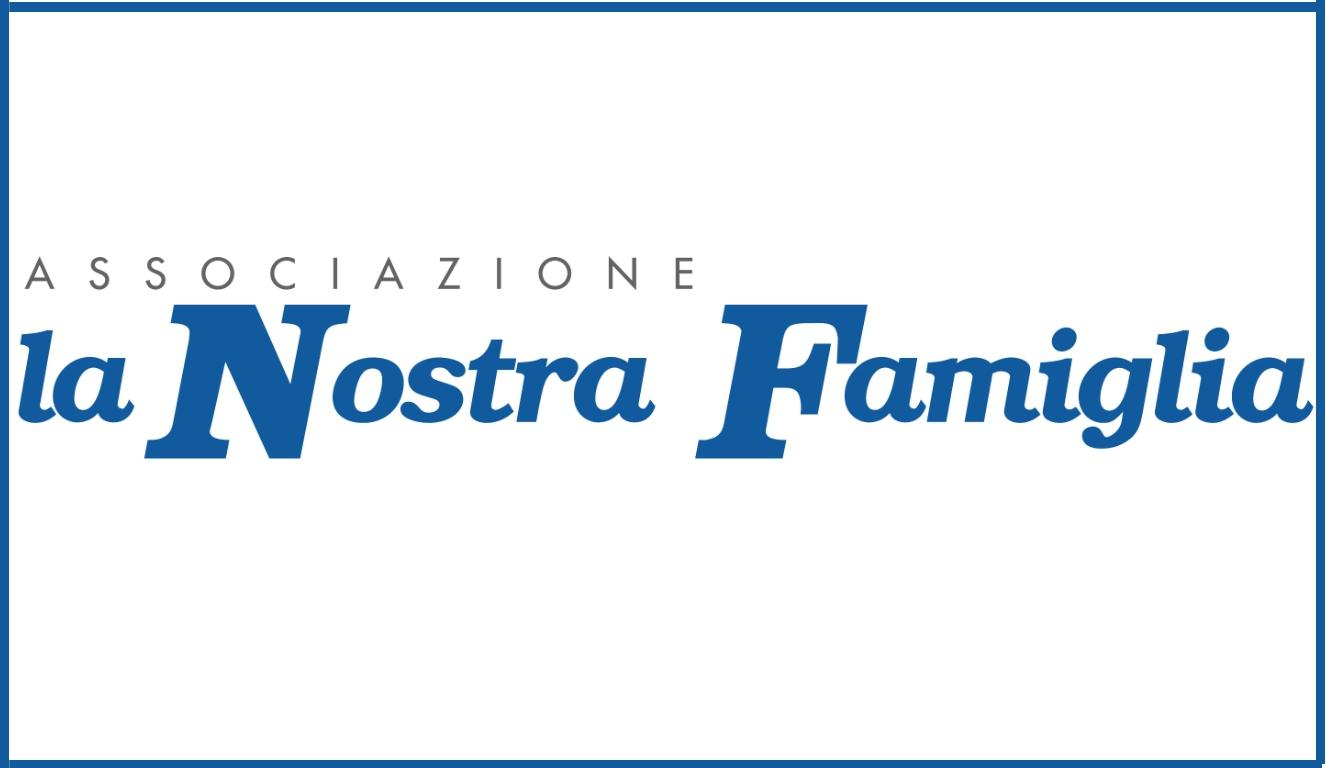 """Rettangolo con le parole """"Assoziazione la Nostra Famiglia""""."""