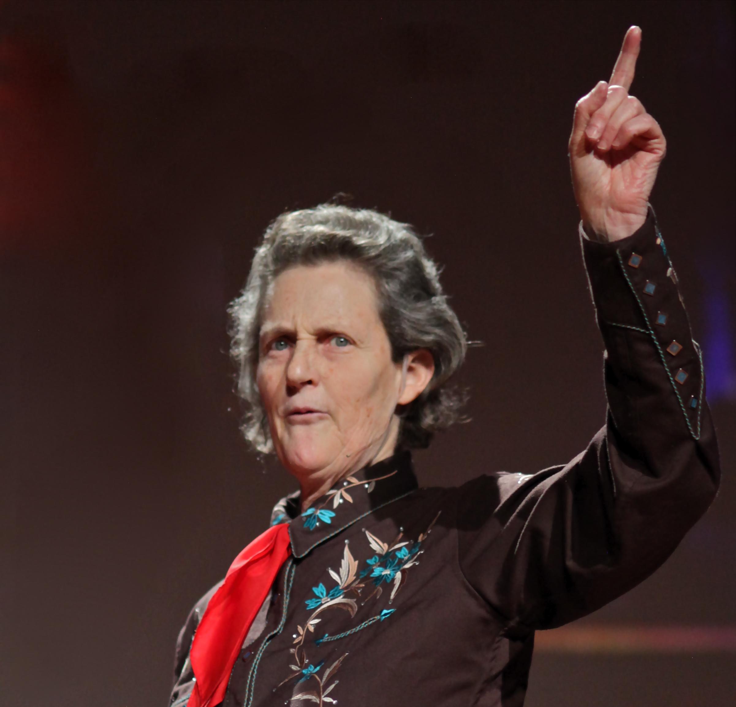 Temple Grandin parla a una conferenza del TED.