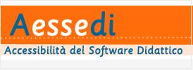 Rettangolo contenente la sigla Aessedi e lo slogan Accessibilità del Software Didattico.