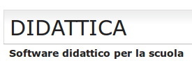 """Titolo del sito: """"Didattica: software didattico per la scuola""""."""