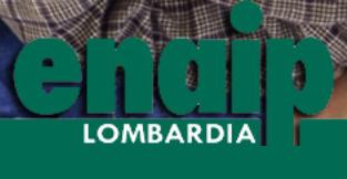 """Rettangolo diviso in due orizzontalmetne. Nella parte in alto la parola """"enaip"""". Nella parte in basso, verde, la parola """"Lombardia""""."""